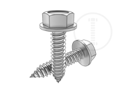 Hexagon washer head tapping screws-type C