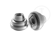 Floating lock long clinching nut-400 Series stainless