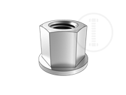 Hexagon collar nuts with a height of 1.5d