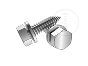 Type AB metric hex head tapping screws and type H narrow conical spring washers assemblies-Table 5