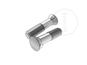 60° flat countersunk head nib bolts with reduced shank