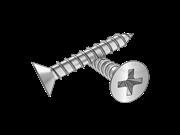 90°Cross recessed countersunk head wood screws
