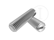 Metric slotted set screws with flat point