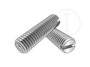Metric slotted set screws with cup point
