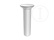 75°Countersunk head rivets with nominal diameters