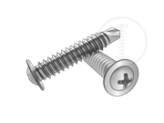 Type BSD phillips round collar head self-drilling and tapping screws-Table 1.2