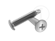 Type CSD phillips button head self-drilling and tapping screws-Table 1.2
