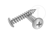Type 17T phillips button head screws-Table 1.2