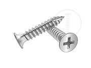 Type 17T phillips trumpet head screws-Table 1.3