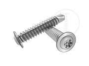 Type BSD 6-Lobe round collar head self-drilling and tapping screws-Table 1.2