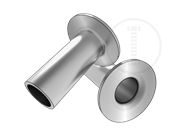 Tubular rivets with pan head-type A,wall thickness 0.2mm