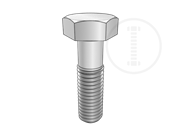 Construction machinery and equipment high strength hex head bolts-reduced shank