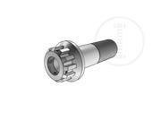 12-teeth spline bolts with flange with holes on head