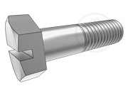 Hexagon head bolts with slot on head
