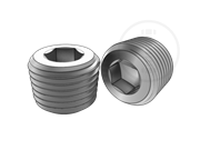 Hexagon socket screws plug with 60 degree sealed pipe thread