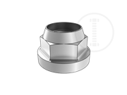 Nylon insert hexagon flange lock nut (case)