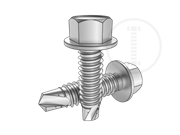 Hexagon head self-drilling tapping screws with collar
