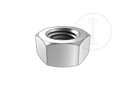 Hex nut used in Transmission tower anchor bolt