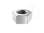 Single chamfered hex nut used in Transmission tower anchor bolt