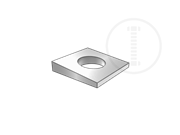Square clipped beveled washers with slope in thichness 1:6-Table 3