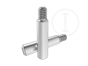 Slotted taper pins with ex-thread