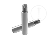 Slotted taper hole pins with ex-thread