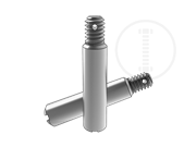 Slotted taper hole pins with ex-thread-short