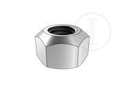 Prevailing torque type all, metal nuts ,style 1