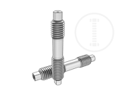 Type BT double end studs with hole-Type I