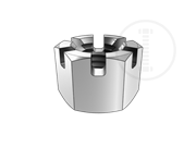 Type 1 medium hexagon slotted nuts-Table 1