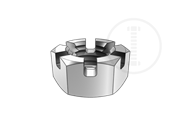 Type 1 medium hexagon slotted thin nuts-Table 1