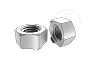 Class 5 hexagon weld nuts with type 1F-Table 1-2