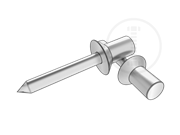 120°Closed end blind rivets with break pull mandrel and countersunk head