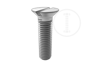 Metric slotted 90-deg countersunk flat head screws threaded up to the head-Table 2