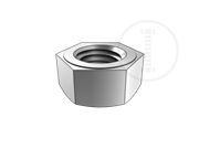 Single chamfered hexagon nuts,style 2,with metric fine pitch thread