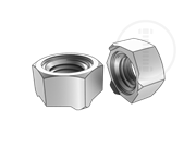 Class 5 hexagon weld nuts with type 1B-Table 1-1