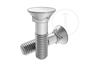 120°Flat countersunk head square neck bolts with long square