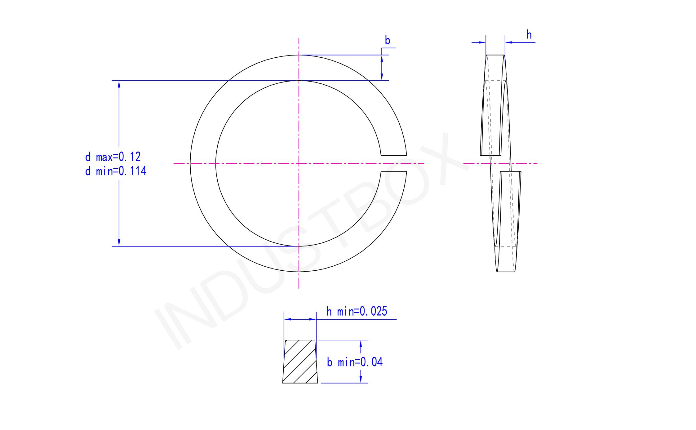 ANSI/ASME B18.21.1标准型弹簧垫圈