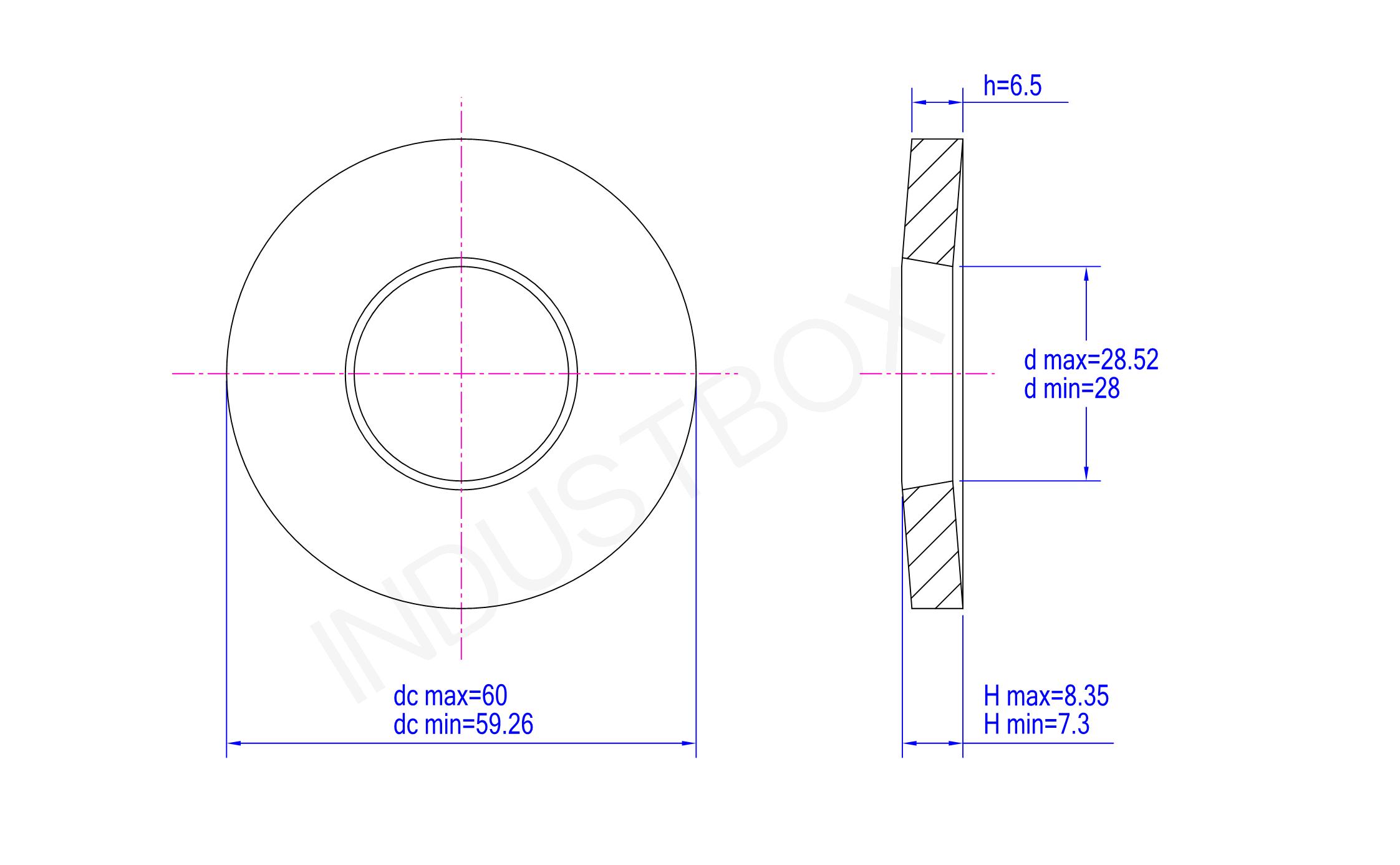 DIN 6796 碟形垫圈