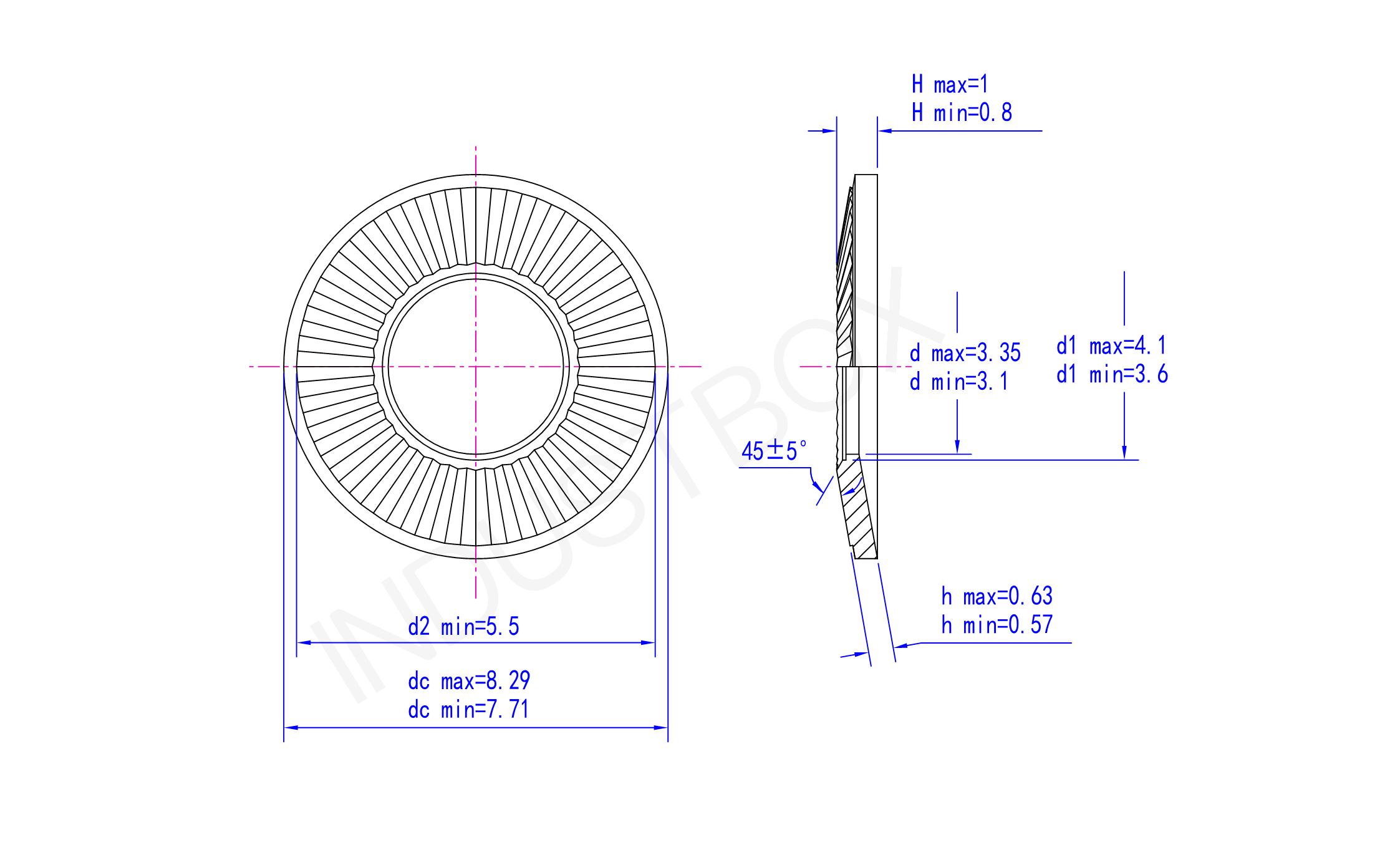 NF E25-511碟形弹簧垫圈